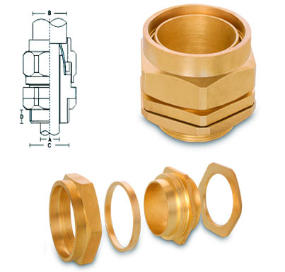 Brass BW3 Parts Cable Glands