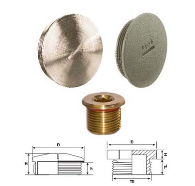 Brass PG Threaded Stop Plugs
